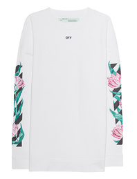 OFF-WHITE C/O VIRGIL ABLOH Diag Tulips Crewneck White