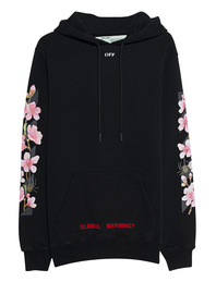 OFF-WHITE C/O VIRGIL ABLOH Diag Cherry Hooded Black