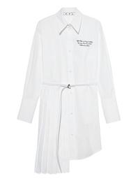OFF-WHITE C/O VIRGIL ABLOH Popeline Plisse White