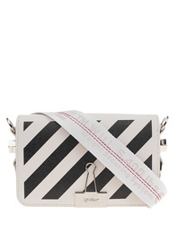 OFF-WHITE C/O VIRGIL ABLOH Diag Mini Flap Bag Black White