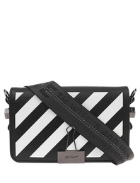 OFF-WHITE C/O VIRGIL ABLOH Diag Mini Flap Bag White Black