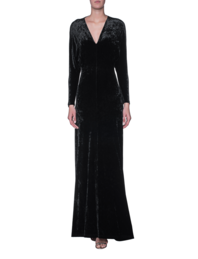 Plein Sud V Neck Velvet Long Black