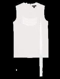 DKNY Cording Sleeveless Winter White