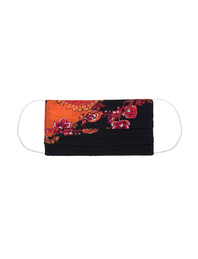 JADICTED Face Mask Silk Paisley Orange
