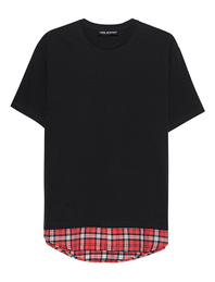 NEIL BARRETT Checked Shirt Black