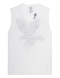 ZOE KARSSEN Eagle Muscle Tank Optical White