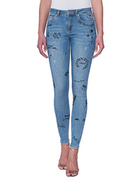 ZOE KARSSEN Patti Sketched Denim Blue