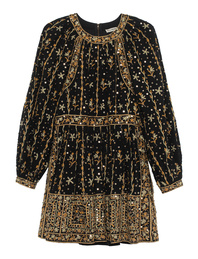 ULLA JOHNSON Daya Embroidery Black