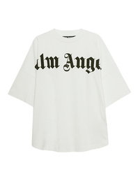 Palm Angels Front Logo Oversize White