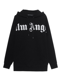 Palm Angels Hoodie Front Logo Black