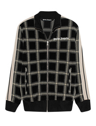 Palm Angels Zip Checked Black