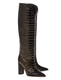 PARIS TEXAS Croco Black Gold