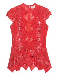 JONATHAN SIMKHAI Lace Panel Red