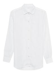 120% LINO Blouse Bianco White