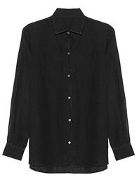 120% LINO Blouse Black