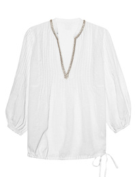 120% LINO Blouse White
