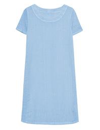 120% LINO Shirt Dress Avio Blue