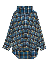 R13 Checked Maskup Flannel Blue