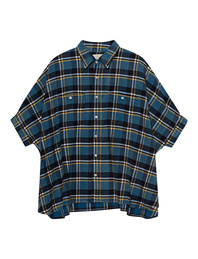 R13 Plaid Oversized Boxy Blue Plaid