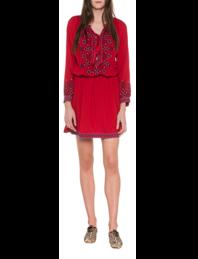 Melissa Odabash Nadja Boho Embroidery Red