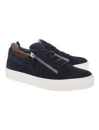 GIUSEPPE ZANOTTI May London Low Suede Navy Blue