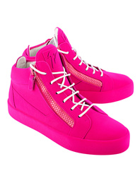 GIUSEPPE ZANOTTI May London Total Flok Ricamo Fluo Pink