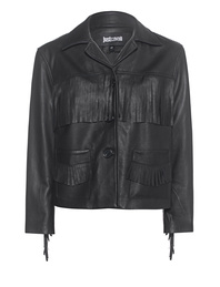 JUST CAVALLI Fringes Western Jaw Black