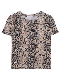 RAGDOLL L.A. Cropped Shirt Python Brown