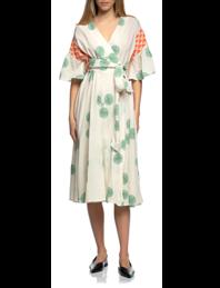 PEARL&CAVIAR Wrap Dress Green