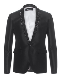 DSQUARED2 Emboidered Shawl Collar Tokyo Jacket
