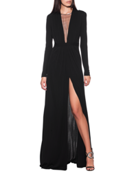 DSQUARED2 Long Dress Deep V Black