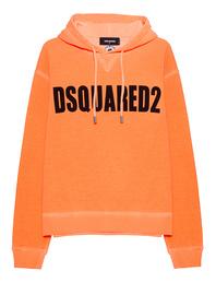 DSQUARED2 Logo Hoodie Neon Orange