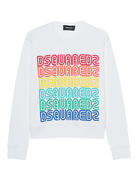 DSQUARED2 Logo Sweater Rainbow White
