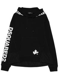 DSQUARED2 Leaf Print Logo Black