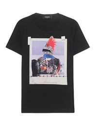 DSQUARED2 Punk Head Print Black