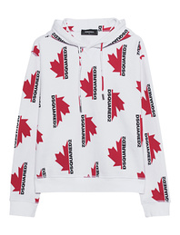 DSQUARED2 Ahorn Hoodie White