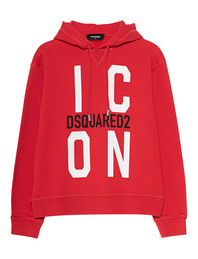 DSQUARED2 Hooded Icon Red