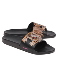 DSQUARED2 Tiger Slides Black