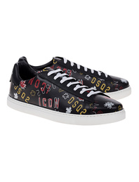 DSQUARED2 Lace-Up Graffiti Black