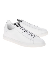 DSQUARED2 Tennis Logo Leather White