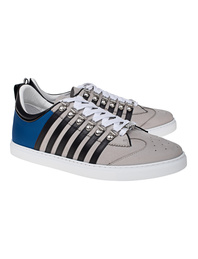 DSQUARED2 Low Sole Stripes Grey Blue