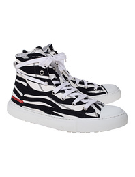 DSQUARED2 Zebra Pattern Rubber Black White