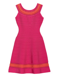 HERVE LEGER Zoe Bright Pink