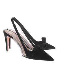 RED VALENTINO Suede Pointed Bow Black