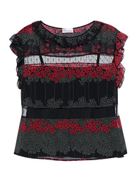 RED VALENTINO Floral Tulle Multicolor