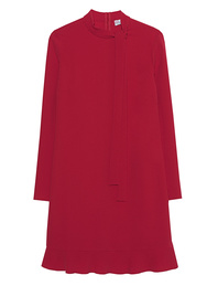 RED VALENTINO Crepe Dress Dark Red