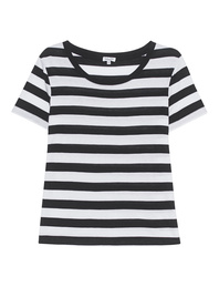 SPLENDID Stripes Tee Black White