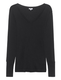 SPLENDID Vneck Long Black