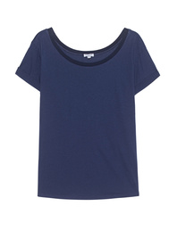 SPLENDID Rib Collar Navy
