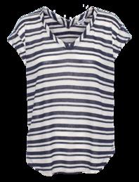 SPLENDID Marina Eyelet Stripe Navy